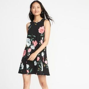 NWT Jersey Knit Sleeveless Floral Swing Dress